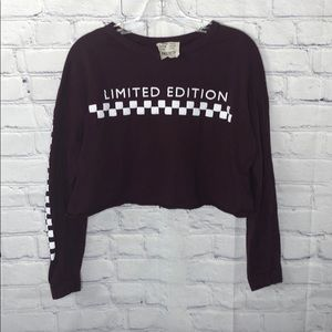 📦 French pastry Crop top long sleeve shirt